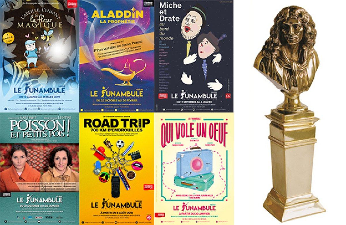 Six spectacles du Funambules éligibles aux Molières 2019 !